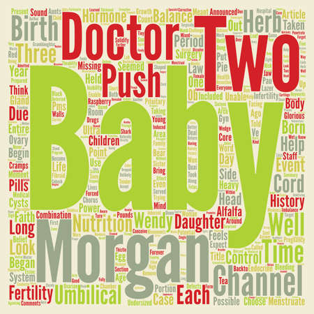 Fertility and Well Baby Case Histories text background word cloud concept
