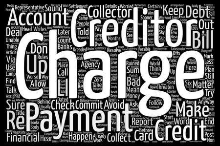 financially: Credit Card Charge Off What Does It Mean And What Should You Do About It text background wordcloud concept