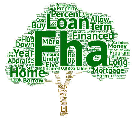 FHA Loans Look Strong text background word cloud concept