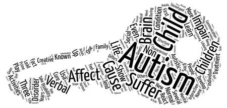 essentially: Autism A Brief Overview text background word cloud concept