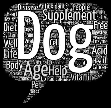 confirms: Dog Supplements Word Cloud Concept Text Background