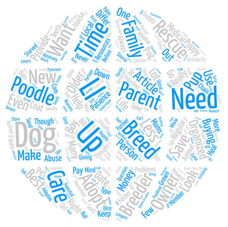 Dog Rescue Is it Right for You text background word cloud concept