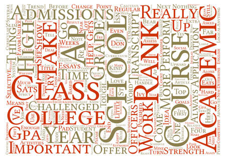 GPA How It Helps In College Admissions text background word cloud concept