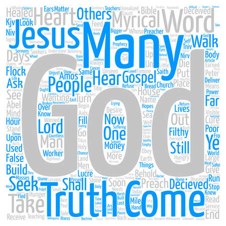 Behold the days come Word Cloud Concept Text Background