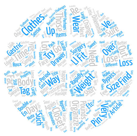 Get Into the Closet after Weight Loss Surgery text background word cloud concept Illustration