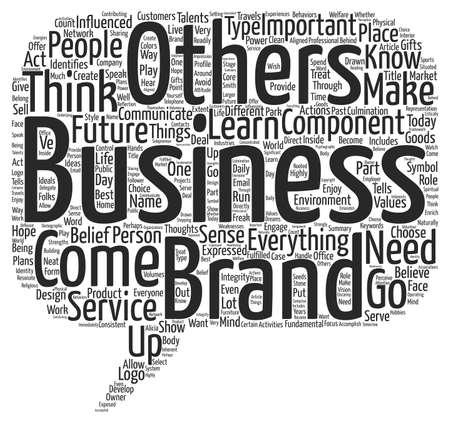 Brand Components text background word cloud concept Ilustração