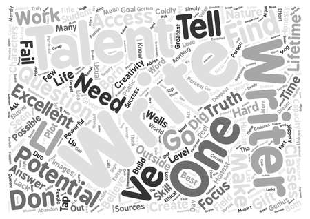 creative potential: Forget About Talent text background wordcloud concept Illustration