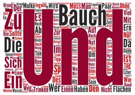 Sommer: Bauch muss weg text background wordcloud concept