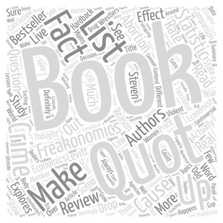 fascinated: Freakonomics a Book Review text background word cloud concept