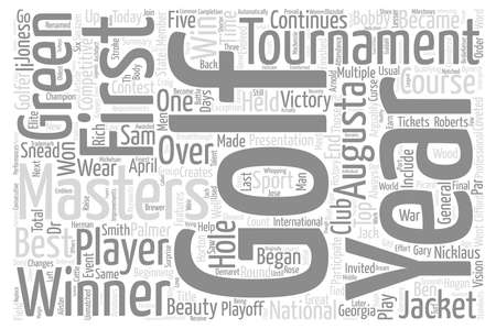 coveted: Golf At Its Best Word Cloud Concept Text Background
