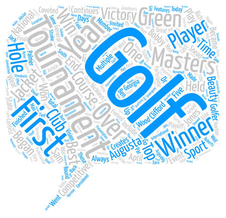 coveted: Golf At Its Best text background word cloud concept