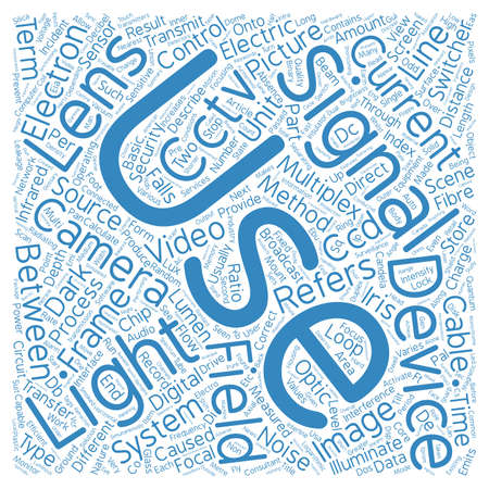 terms: Glossary Of Terms D L CCTV text background wordcloud concept