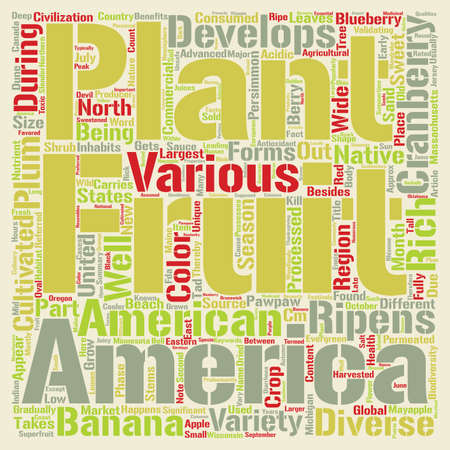 inhabits: Fruits That Grow In Different Seasons In The US Word Cloud Concept Text Background