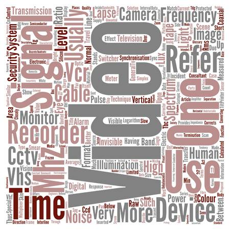 terms: Glossary Of Terms S Z CCTV text background wordcloud concept