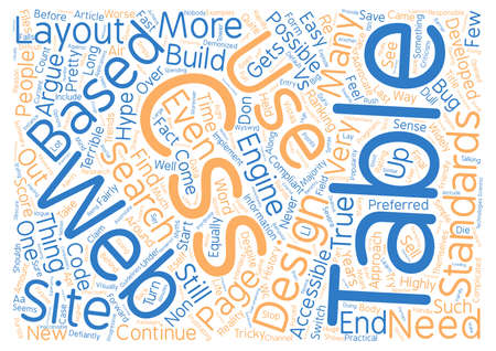 css: CSS and Tables The hype and the trends text background wordcloud concept