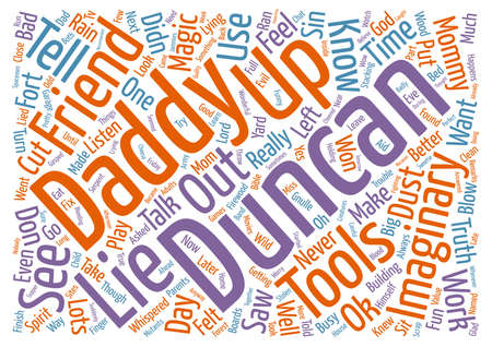 named person: Bad Imaginary Friend text background wordcloud concept