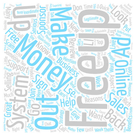 negativity: Freeup Review great Opportunity May Not Be For You Word Cloud Concept Text Background