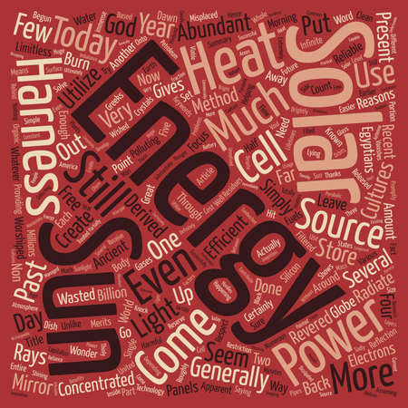 Great Reasons To Harness Solar Power text background wordcloud concept