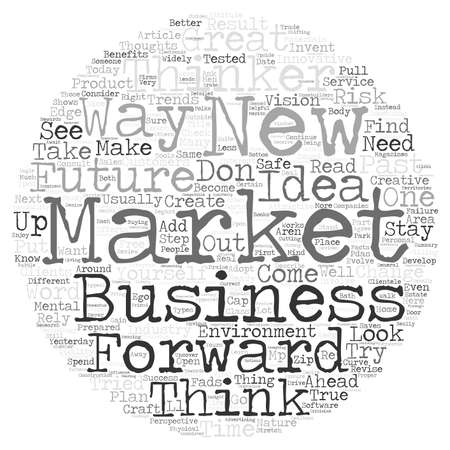Forward Thinkers Stay Ahead of the Curve text background word cloud concept