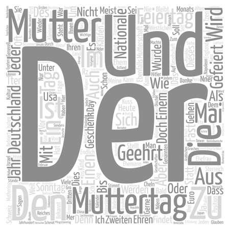 mensch: Die Mutter und der Muttertag text background word cloud concept Illustration
