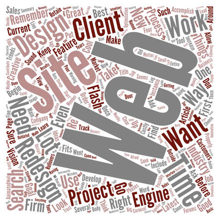 redesign: Before You Redesign Your Web Site text background wordcloud concept Illustration