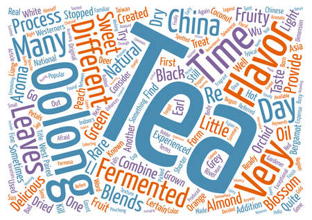 oolong: Delicious Oolong Tea Blends text background word cloud concept
