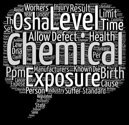 defects: Birth Defects and Chemicals text background word cloud concept