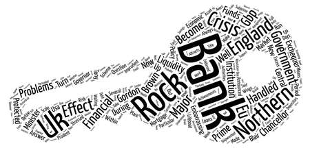 Bank Of England Shipwrecked On Northern Rock text background wordcloud concept