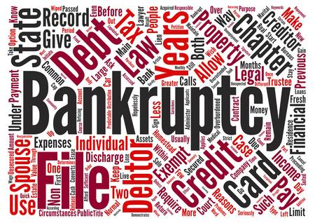 Bankruptcy Chapter Or Chapter text background word cloud concept