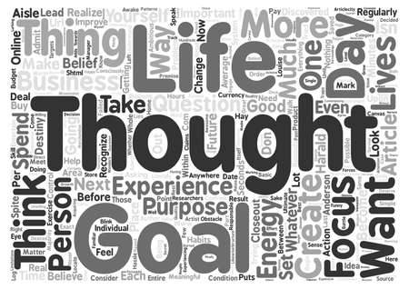 before: Before You Think That Next Thought text background word cloud concept
