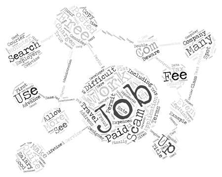 finally: Beware Of Job Fraud Scams text background wordcloud concept