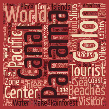unrivalled: GO WILD IN PANAMA Word Cloud Concept Text Background Illustration