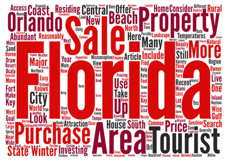 property for sale: Florida Property for Sale Some Common Misconceptions about the Sunshine State text background word cloud concept