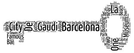 travel guide: Beautiful BARCELONA Easy Travel Guide text background wordcloud concept