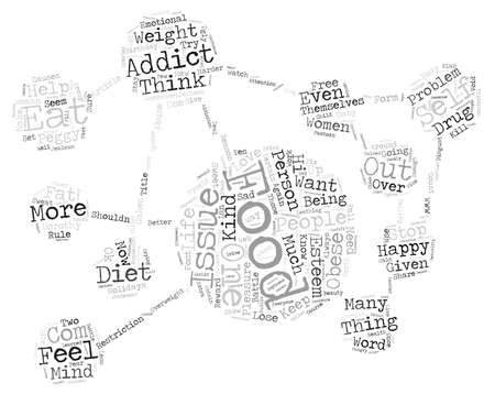 gatherings: Food addiciton text background word cloud concept