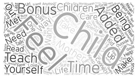 rewarding: For the Love of Mommy text background word cloud concept Illustration