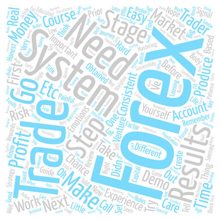Forex Course A Quick Forex Guide for Traders text background wordcloud concept Illustration