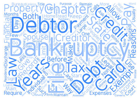 Bankruptcy Chapter Or Chapter Word Cloud Concept Text Background
