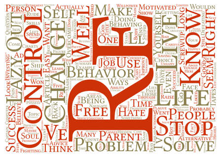 re do: Do You Think You re in Control of Your Life Word Cloud Concept Text Background
