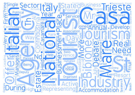 Future Perspectives Of Italian Tourism Word Cloud Concept Text Background