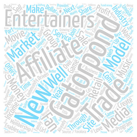 retailing: GatorPond New Entertainment Group text background word cloud concept Illustration