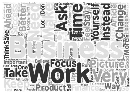 Does Your Business Need An Attitude Adjustment text background word cloud concept Illustration