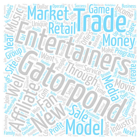 GatorPond New Entertainment Group text background wordcloud concept Illustration