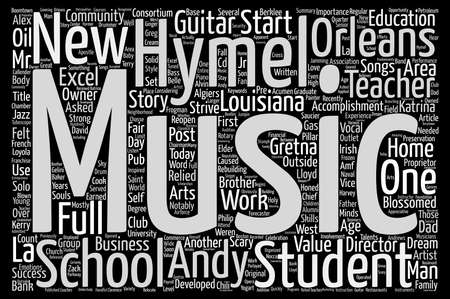 From Work At Home Guitar Teacher To Full Music School text background word cloud concept Illustration