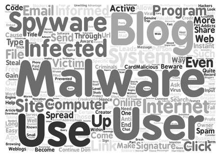 popularity: Beware Of Malware Infected Blogs Word Cloud Concept Text Background Illustration