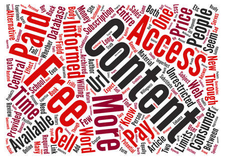 Does Free Content Sell text background word cloud concept Illustration