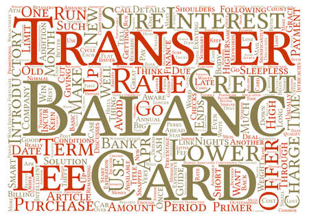 transfers: Balance Transfers Primer text background word cloud concept