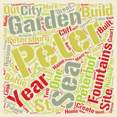 Fountains And Grounds Of Peterhof Word Cloud Concept Text Background