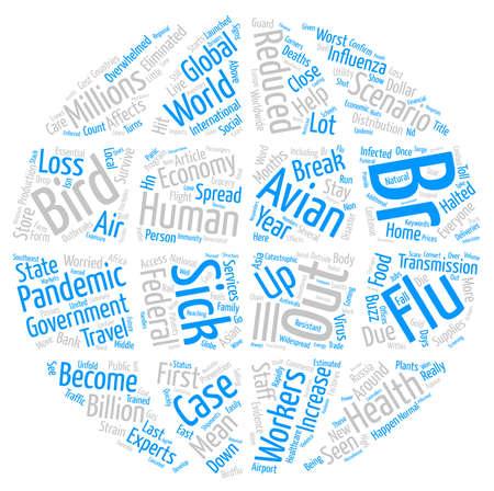 Bird Flu Worst Case Scenario Word Cloud Concept Text Background