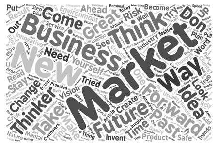 Forward Thinkers Stay Ahead of the Curve text background wordcloud concept Vectores